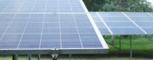Hytech Solar - Solar panels in a garden.